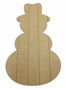 Placa Pallet Boneco de Neve MDF Natal Decoração G