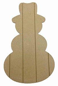 Placa Pallet Boneco de Neve MDF Natal Decoração P