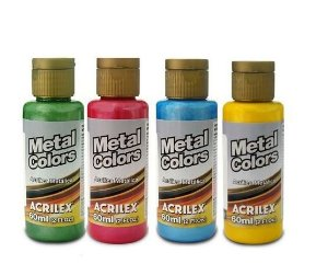 Tinta Acrílica Metal Colors Acrilex 60 ml