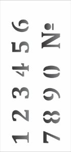 Stencil 7×15 Simples – Numeros – OPA 1971