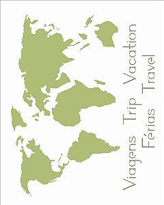 Stencil OPA  20×25 Simples – Mapa – OPA 2511