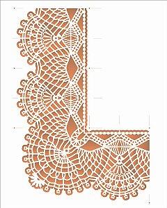 Stencil OPA 20×25 Simples – Cantoneira Renda I – OPA 2711