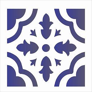 Stencil 14×14 Simples – Ladrilho Coração – OPA 1362