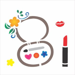 Stencil 14×14 Simples – Maquiagem II – OPA 993