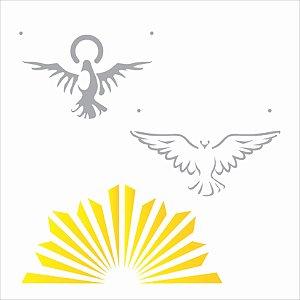 Stencil 14×14 Simples – Religião Espírito Santo – OPA 2164