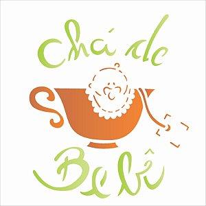 Stencil 14×14 Simples – Chá de Bebê – OPA 1823