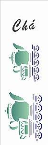 Stencil 10×30 Simples – Chá Bule – OPA 005