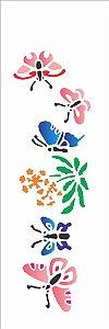 Stencil 10×30 Simples – Borboletas Ramo – OPA 109