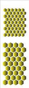 Stencil 10×30 Simples – Favos de Mel – OPA 1477