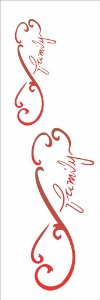 Stencil 10×30 Simples – Infinito Family – OPA 1723