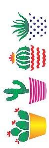 Stencil 10×30 Simples – Planta Suculentas – OPA 2234