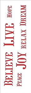 Stencil 10×30 Simples – Palavras I – OPA 1471