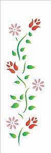 Stencil 10×30 Simples – Flores e Botões – OPA 729