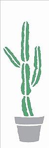Stencil 10×30 Simples – Plantas Cactos – OPA 2494