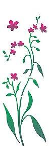 Stencil 10×30 Simples – Flor Miosótis – OPA 2224