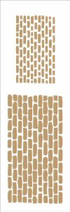 Stencil 10×30 Simples – Tijolos III – OPA 1084