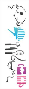 Stencil 10×30 Simples – Mesa de Cozinha – OPA 1207