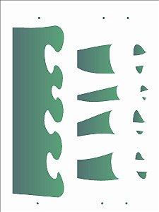 Stencil 15×20 Simples – Barrado – OPA 2031