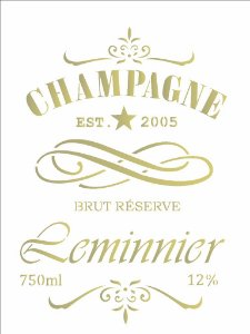Stencil 15×20 Simples – Rotulo Champagne – OPA 2047