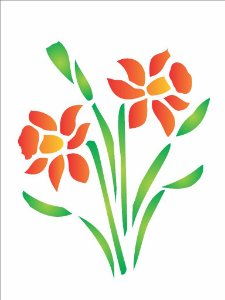 Stencil 15×20 Simples – Flor Narciso – OPA 185