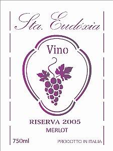 Stencil 15×20 Simples – Rotulo Vinho – OPA 2048