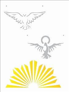 Stencil 15×20 Simples – Religião Espírito Santo – OPA 2217