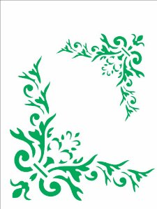 Stencil 15×20 Simples – Cantoneira Folha – OPA 2032