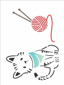 Stencil 15×20 Simples – Pet Gato – OPA 2170