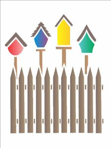 Stencil 15×20 Simples – Casas de Pássaros – OPA 1046