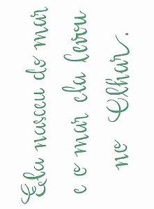 Stencil 15×20 Simples – Frase Sereia – OPA 2607