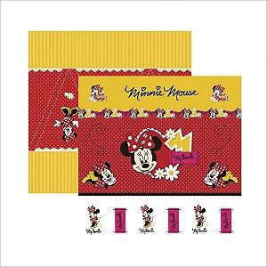 Folha para Scrapbook Dupla Face Disney Toke e Crie Minnie Mouse 1 Cenário e Bandeirolas - 19296 - SDFD002