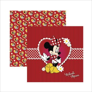 Folha para Scrapbook Dupla Face Disney Toke e Crie Minnie Mouse 1 Guirlanda - 19295 - SDFD001