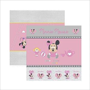 Folha para Scrapbook Dupla Face Disney Toke e Crie Baby Minnie 1 Cenário e Bandeirolas - 19316 - SDFD022