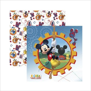 Folha para Scrapbook Dupla Face Disney Toke e Crie Casa do Mickey 1 Guirlanda - 19701 - SDFD117