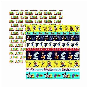 Folha para Scrapbook Dupla Face Disney Toke e Crie Casa do Mickey 2 Faixas - 19689 - SDFD105
