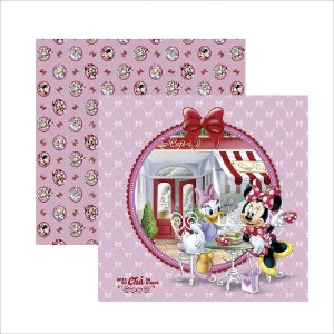 Folha para Scrapbook Dupla Face Disney Toke e Crie Casa do Mickey 1 Selos e Tags - 19705 - SDFD121