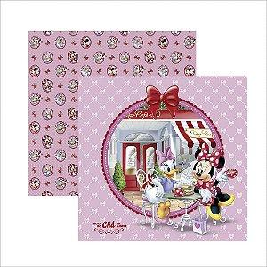 Folha para Scrapbook Dupla Face Disney Toke e Crie Hora do Chá com a Minnie 1 Guirlanda - 19707 - SDFD123