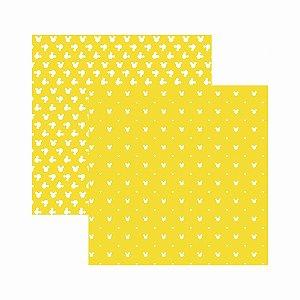 Folha para Scrapbook Disney Toke e Crie Mickey Mouse Estampado Amarelo – SBD05 – 20832