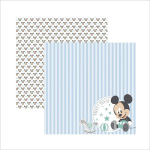 Folha para Scrapbook Dupla Face Disney Toke e Crie Baby Mickey 2 Paisagem - 19331 - SDFD037
