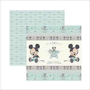 Folha para Scrapbook Dupla Face Disney Toke e Crie Baby Mickey 1 Fitas e Rótulos - 19327 - SDFD033