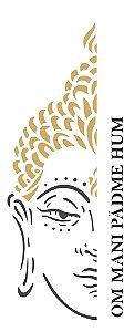 Stencil 17×42 Simples – Religião Buda – OPA 2257