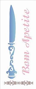 Stencil 17×42 Simples – Faca – OPA 1391
