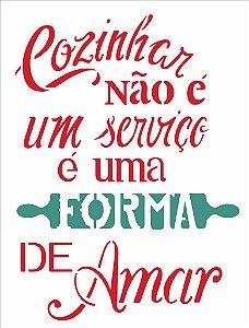 Stencil  32×42 Simples – Frase Forma de Amar – OPA 2207