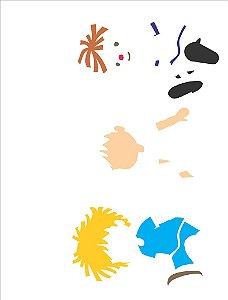 Stencil 32×42 Simples – Infantil Boneco – OPA 2305
