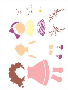 Stencil 32×42 Simples – Infantil Boneca – OPA 2304