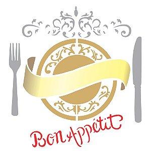 Stencil 30,5×30,5 Simples – Bon Appetit – OPA 2293