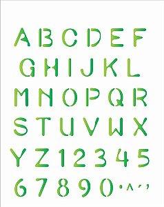 Stencil 20×25 Simples – Alfabeto Simples OPA 477