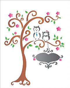 Stencil 20×25 Simples – Bichos Árvore – OPA 1237
