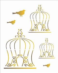 Stencil 20X25 Simples – Gaiola – OPA 1777