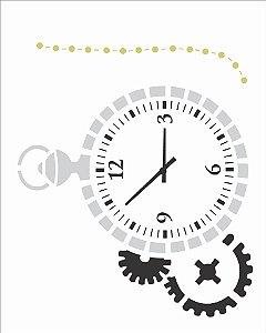 Stencil 20×25 Simples – Relógio – OPA 2515